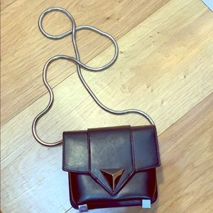 Giuseppe Zanotti Black leather shoulder bag